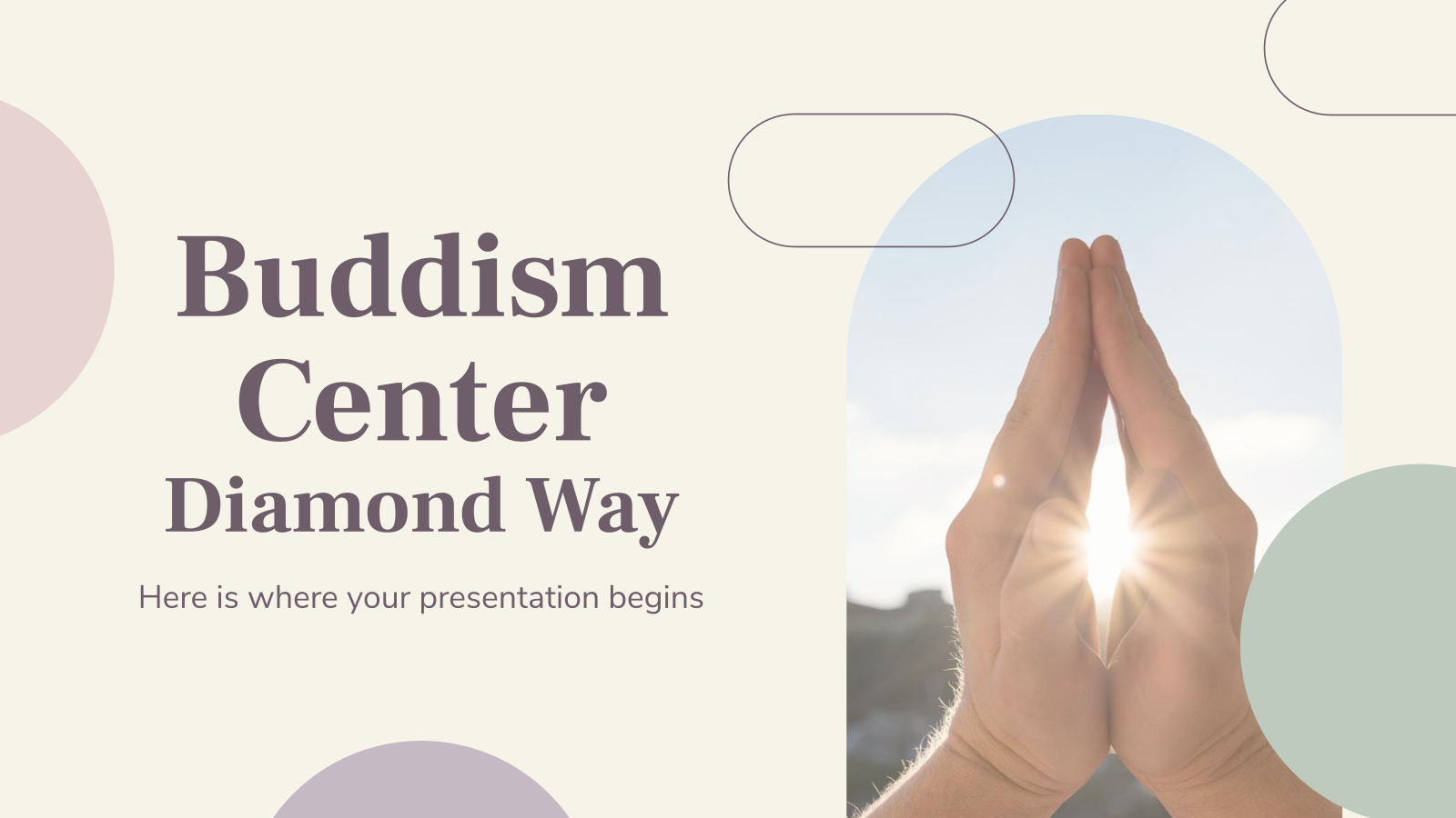 Buddhism Center: Diamond Way presentation template