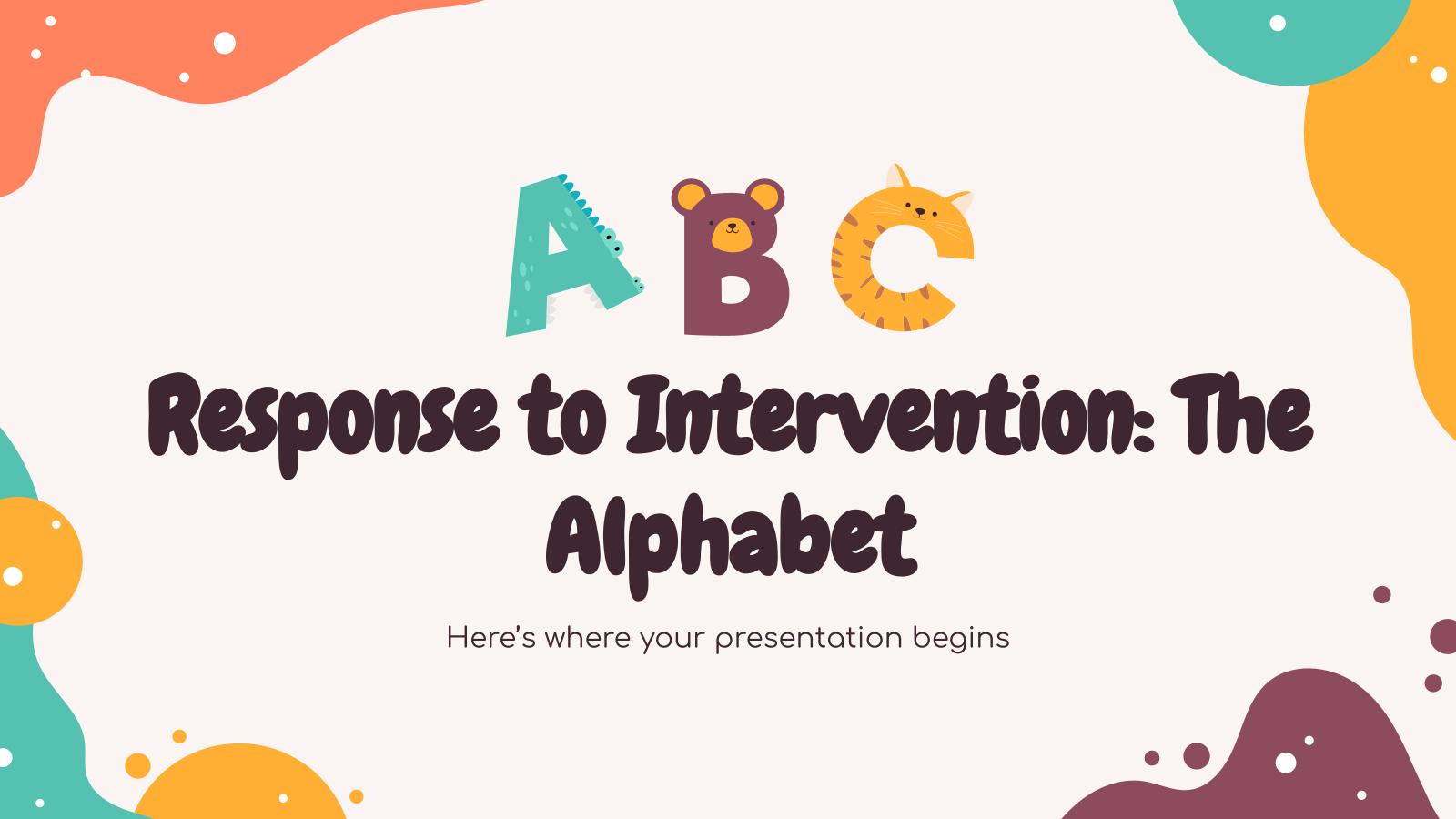 Modelo de apresentação Resposta à intervenção: o alfabeto