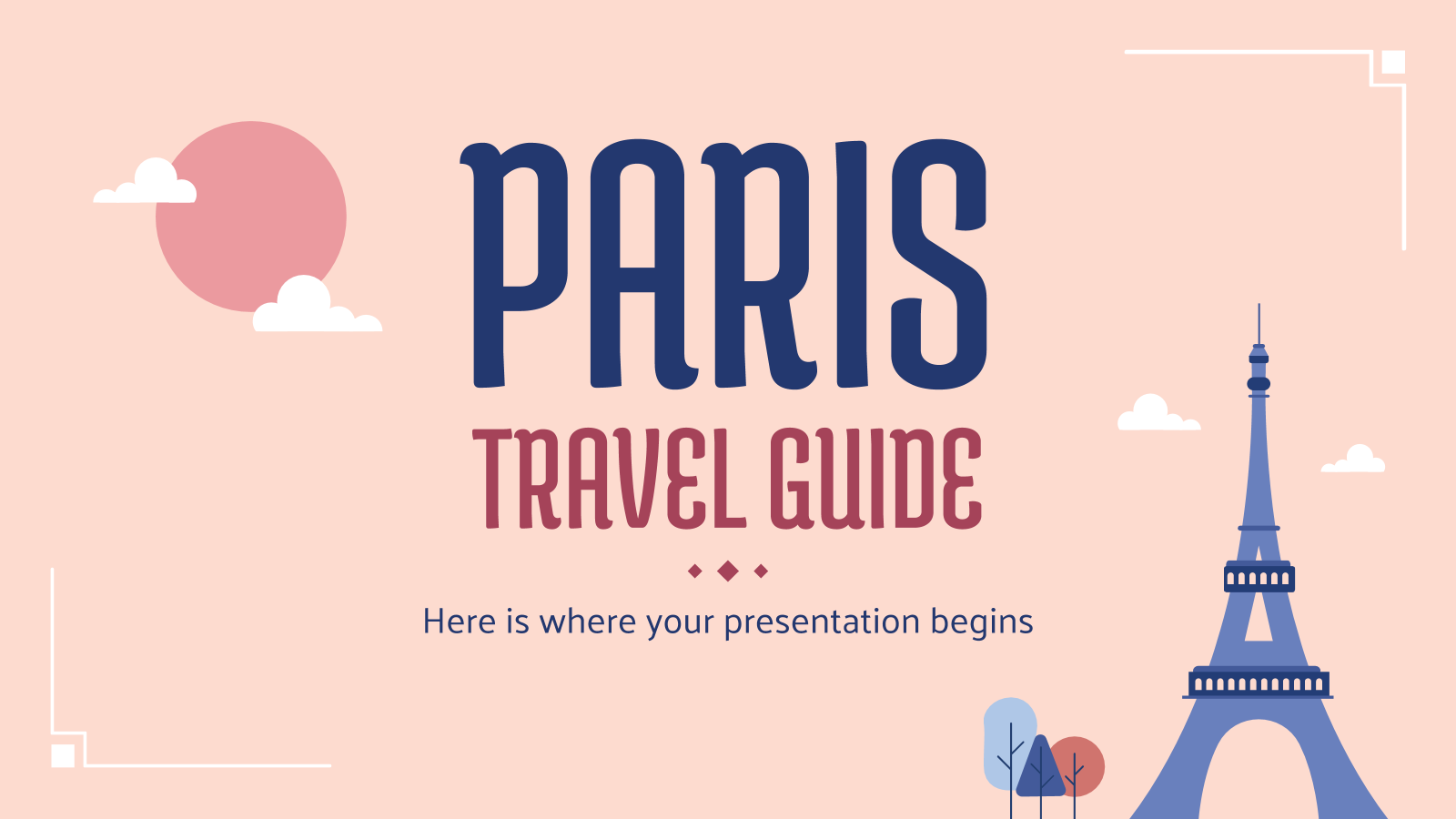 Travel Guide: Paris presentation template