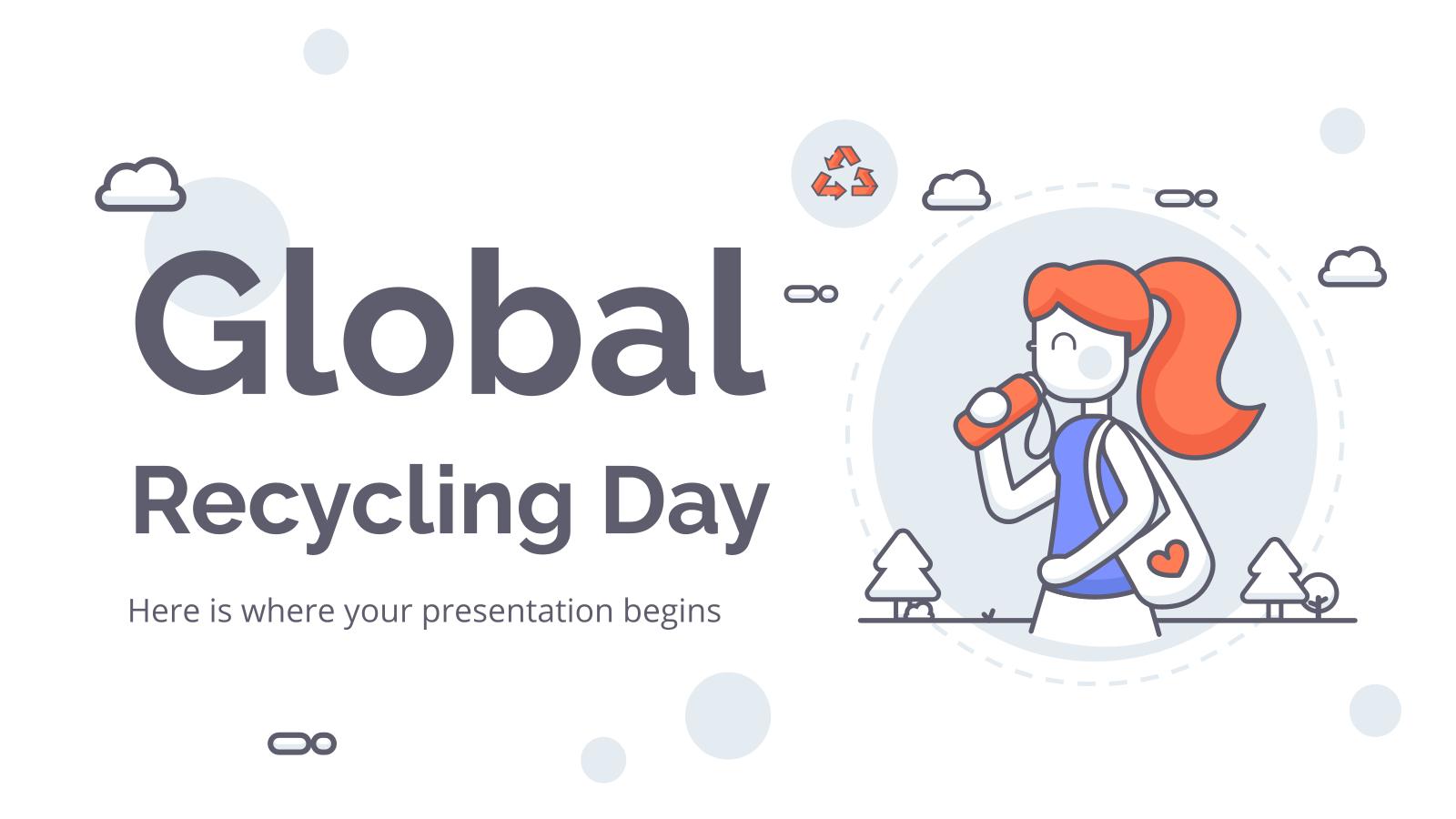 Journée mondiale du recyclage : Modèles de présentation