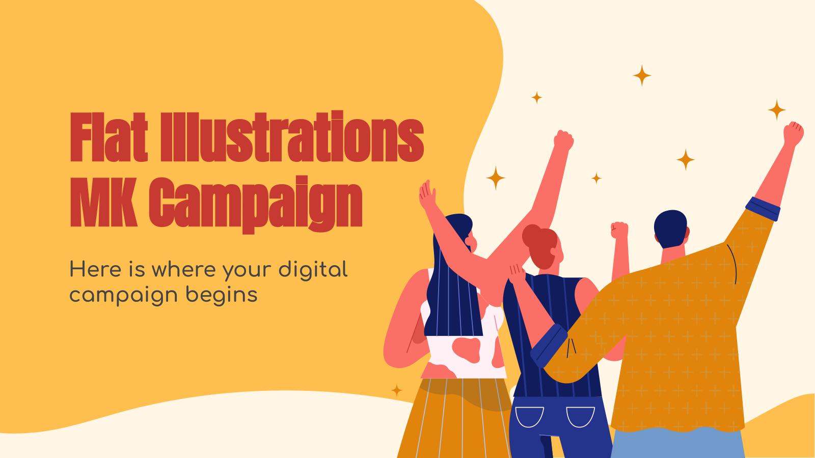 Flat Illustrations MK Campaign presentation template