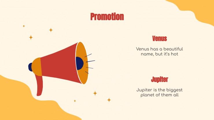 Modelo de apresentação Campanha de marketing com ilustrações planas