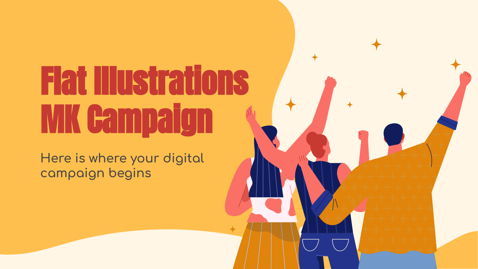 Flat Illustrations MK Campaign presentation template