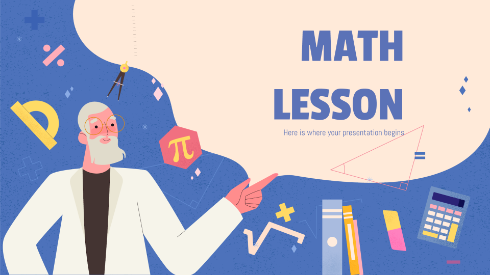 Math Lesson presentation template