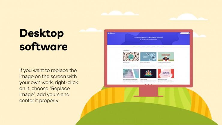 Plantilla de presentación Casa de cerdos interactiva para la logopedia