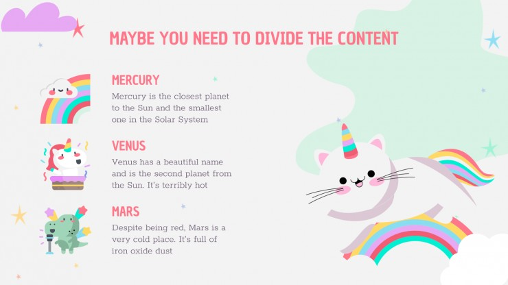 Plantilla de presentación Cumpleaños de fantasía colorida