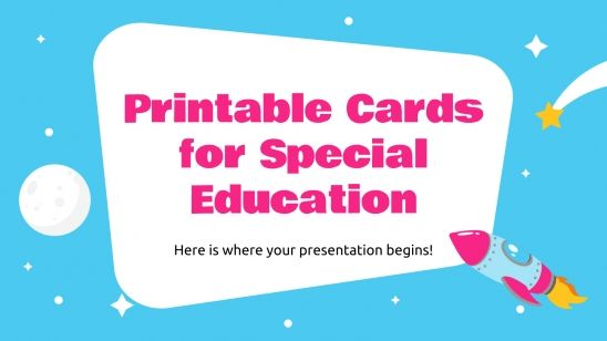Printable Cards for Special Education presentation template