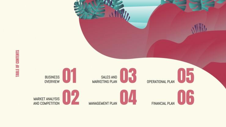 Modelo de apresentação Plano de negócios para agência de viagens