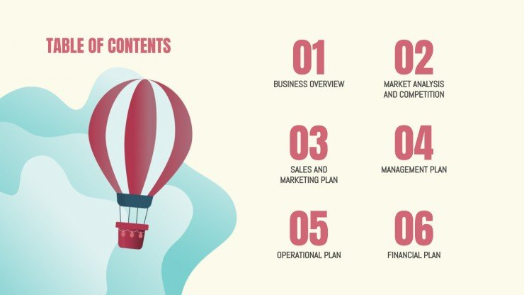 Plantilla de presentación Plan de negocios para agencia de viajes