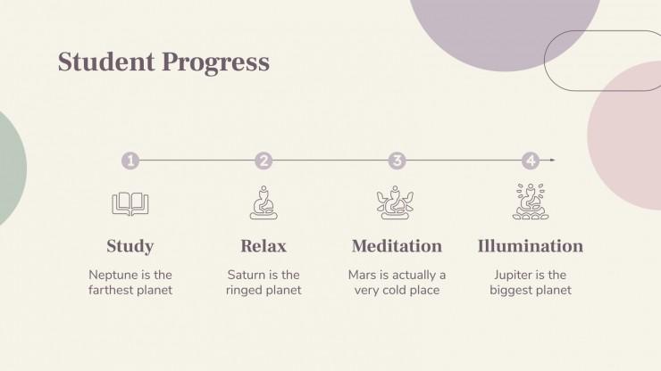 Modelo de apresentação Centro budista: caminho do diamante