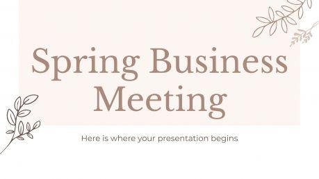 Plantilla de presentación Reunión de negocios en primavera