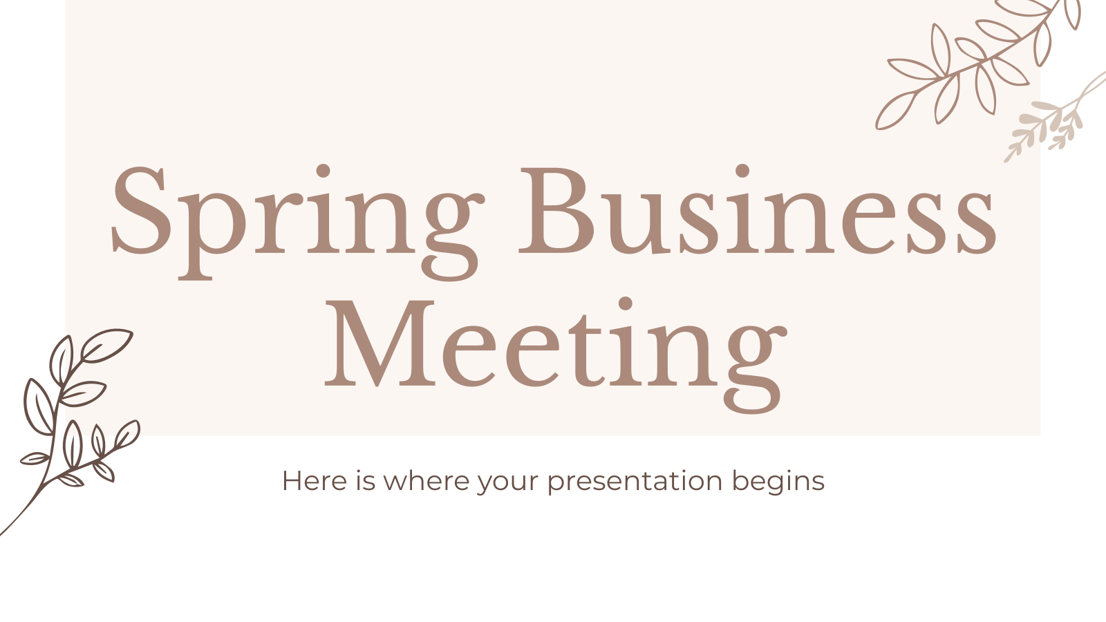 Spring Business Meeting presentation template