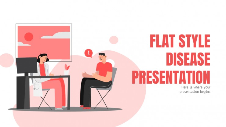 Flat Style Disease presentation template