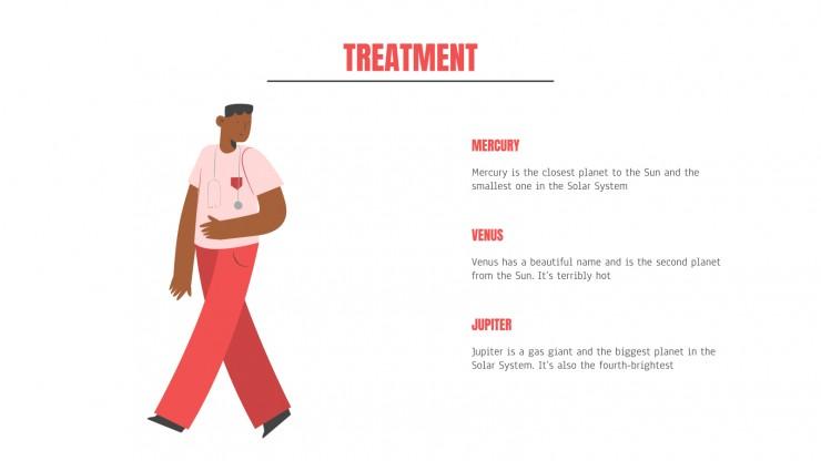 Plantilla de presentación Diapositivas médicas con diseño flat
