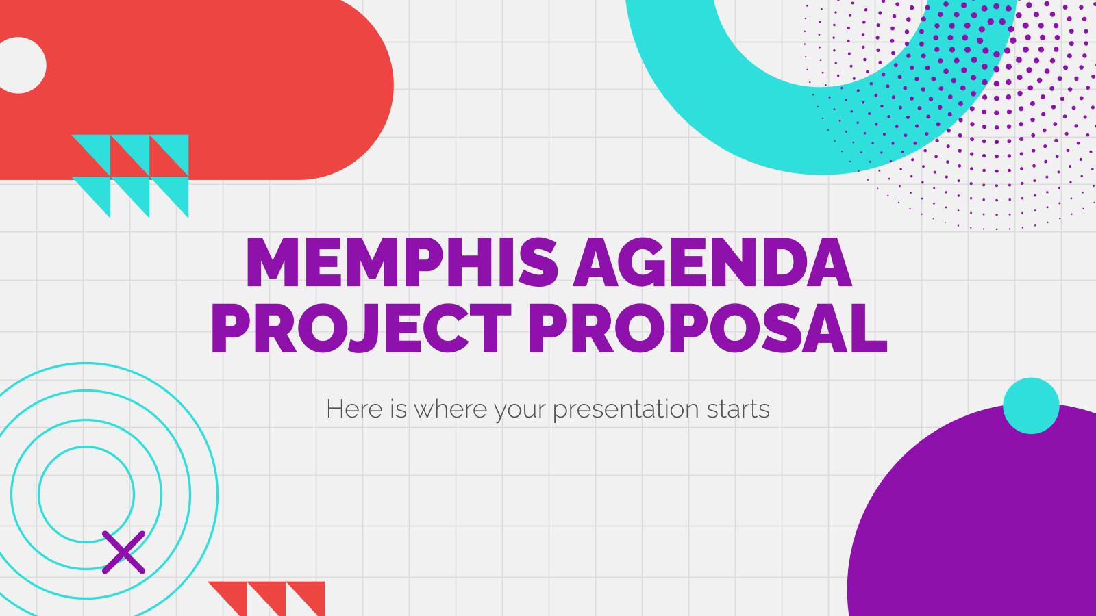 Modelo de apresentação Proposta de projeto Memphis