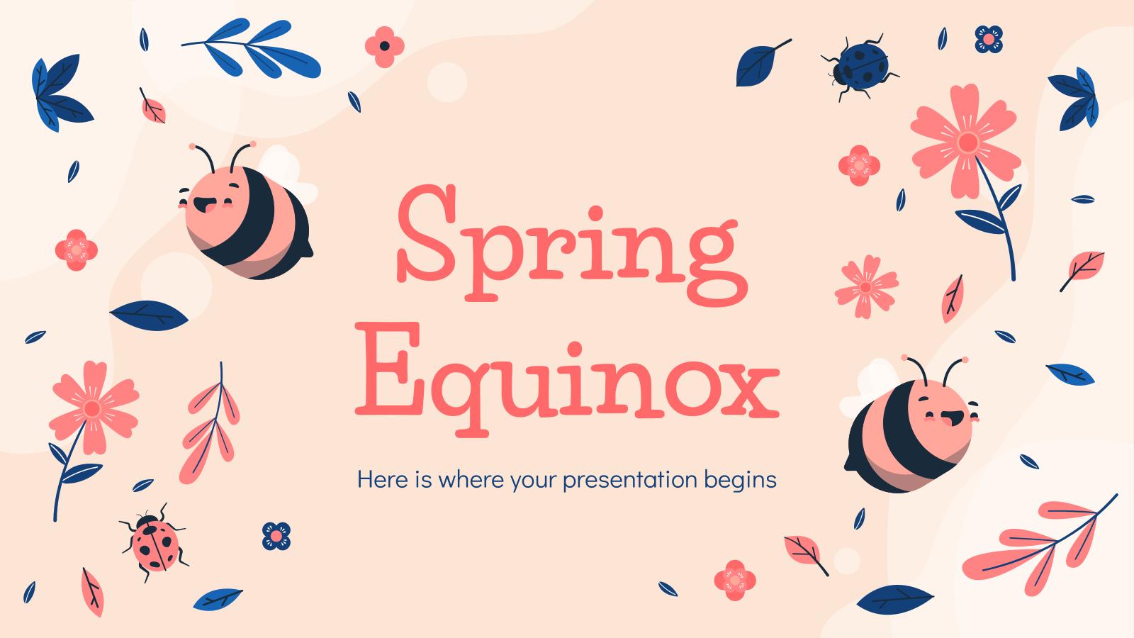 Frühlings-Tagundnachtgleiche Präsentationsvorlage