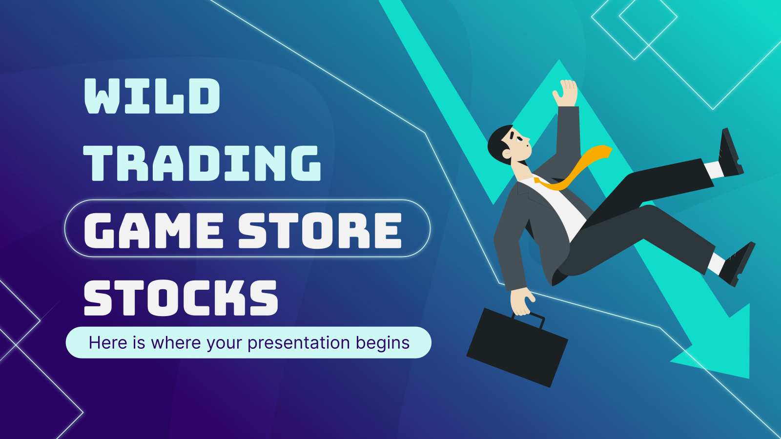 Wild Trading Game Store Stocks presentation template