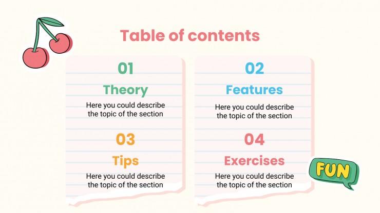 Modelo de apresentação Agenda universitária simples e personalizável