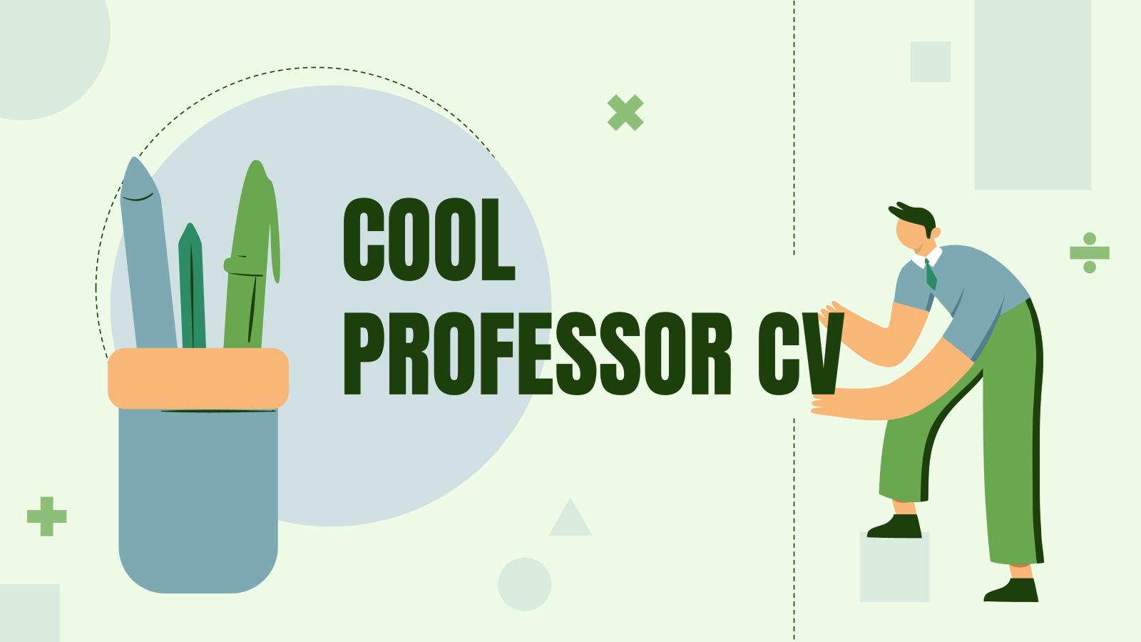 Modelo de apresentação CV para professores