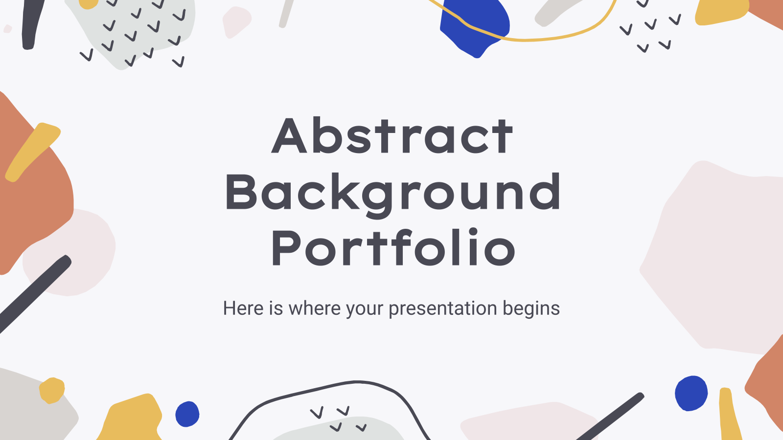Plantilla de presentación Portafolio de fondo abstracto