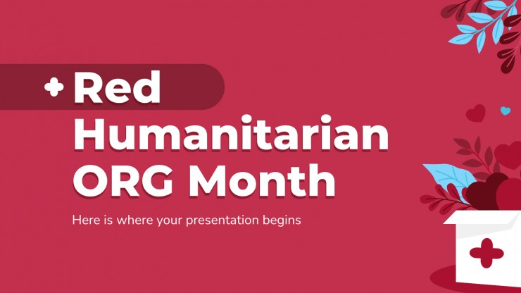 Red Humanitarian ORG Month presentation template