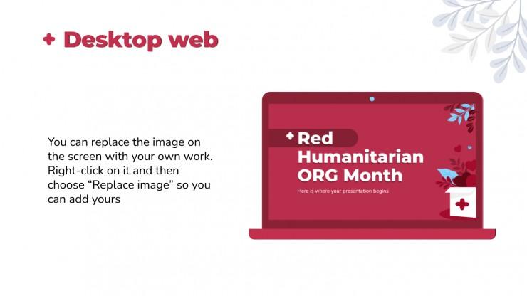 Plantilla de presentación Mes de las organizaciones humanitarias