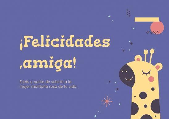 Modelo de apresentação ¡Enhorabuena, Amiga!