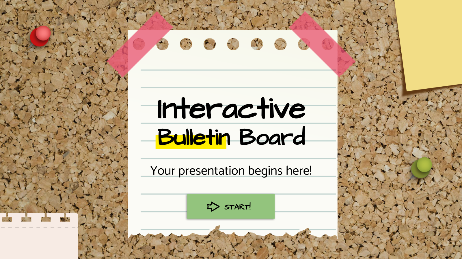 Interactive Bulletin Board presentation template