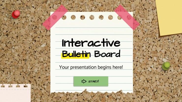 Tablón de corcho interactivo