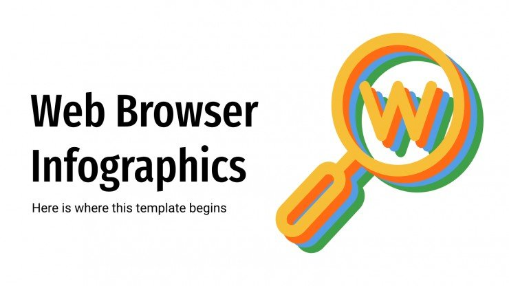 Web Browser Infographics presentation template