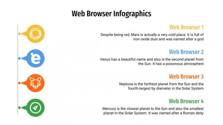 Plantilla de presentación Infografías sobre navegadores web