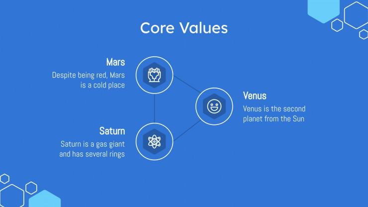 Blue Chlorine MK Theme presentation template