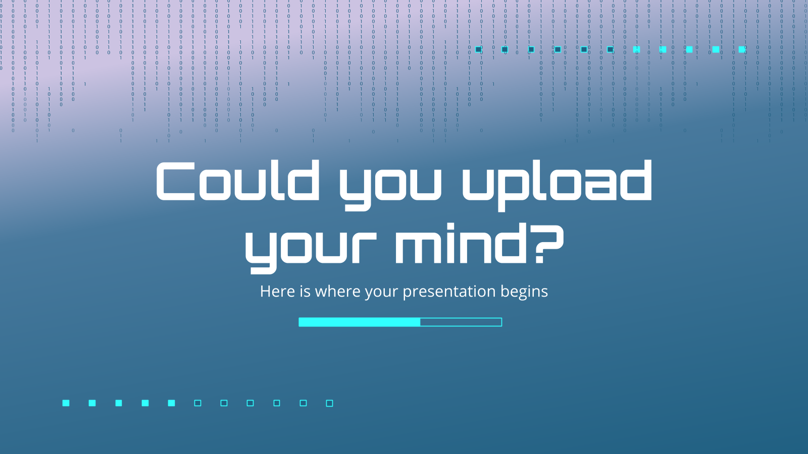 Could You Upload Your Mind to a Computer? presentation template
