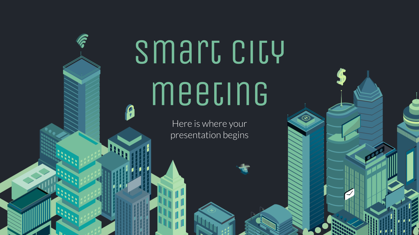 Smart City Company Meeting presentation template