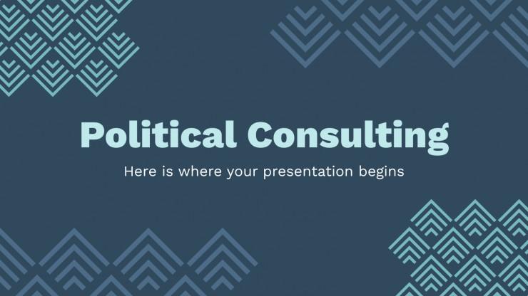 Plantilla de presentación Consultoría política