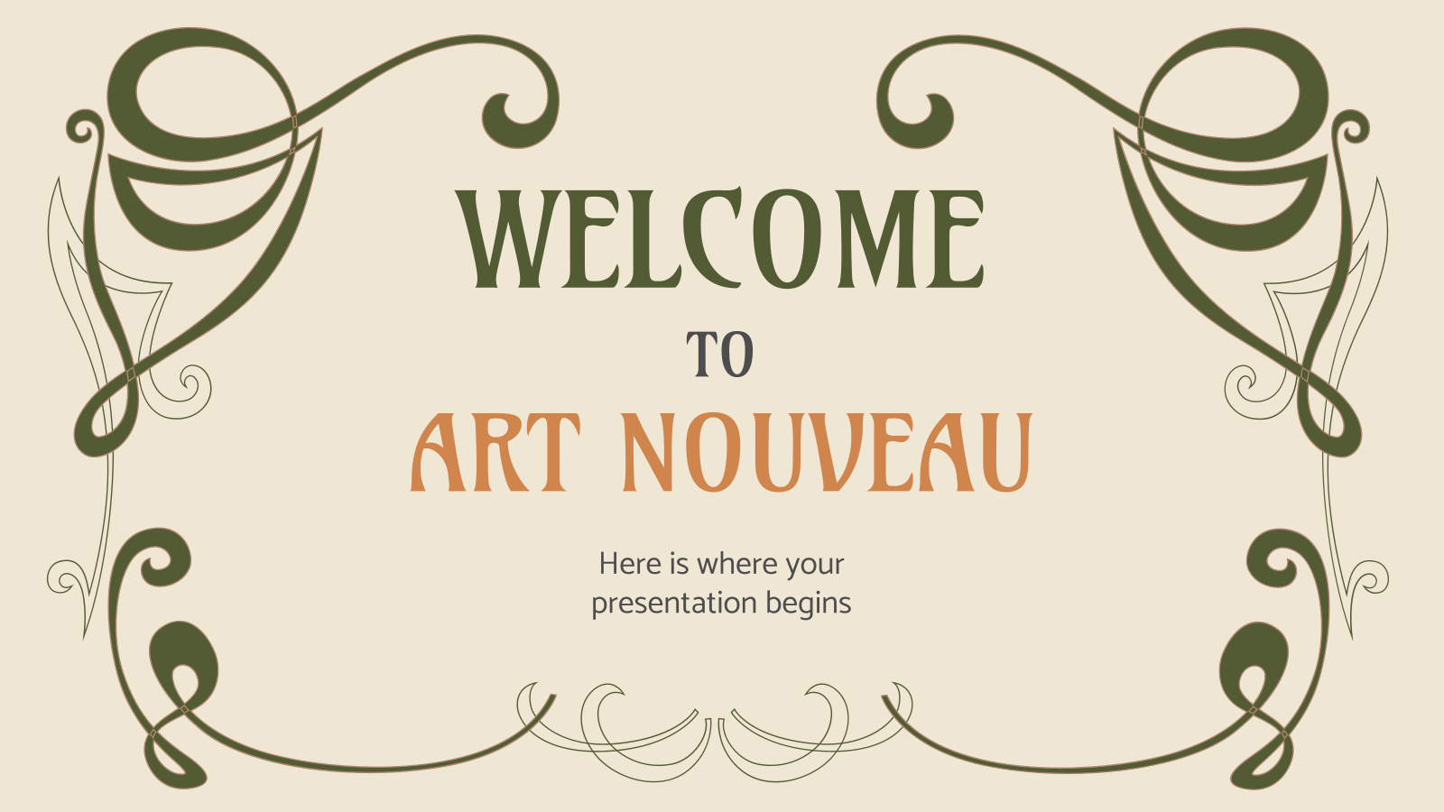 Welcome to Art Nouveau presentation template