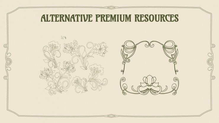 Bienvenue à l'Art Nouveau : Modèles de présentation