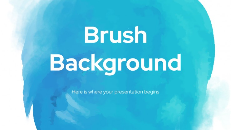 Brush Background presentation template