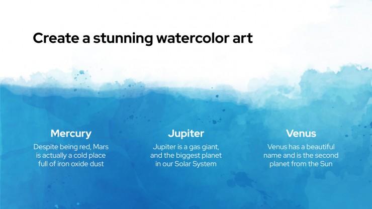 Arrière-plan pinceau : Modèles de présentation