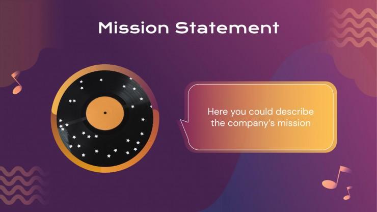 Modelo de apresentação Plano de negócios de gravadora