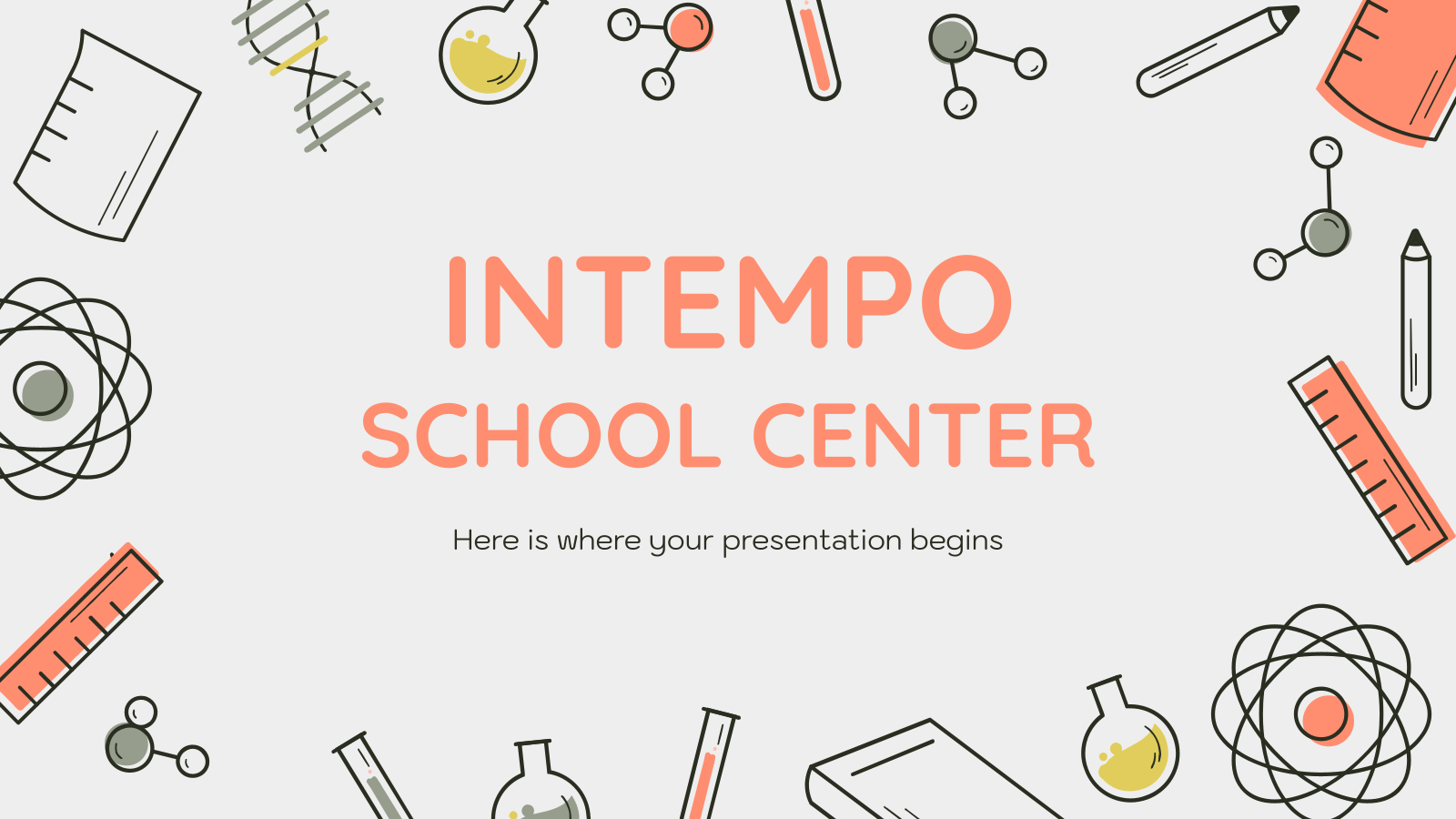 Plantilla de presentación Centro educativo Intempo