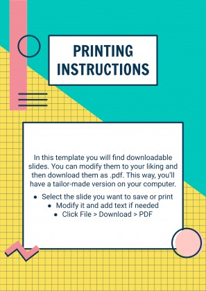 Memphis Style Poster Collection presentation template