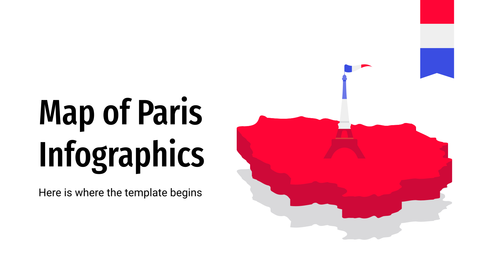 Map of Paris Infographics presentation template