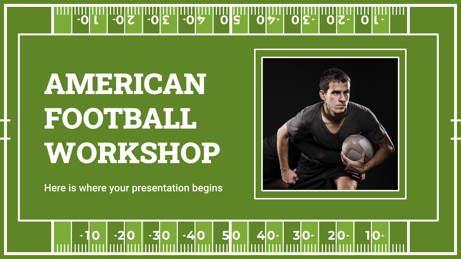American Football Workshop presentation template