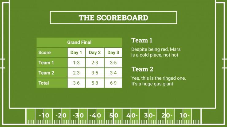 Modelo de apresentação Seminário de futebol americano