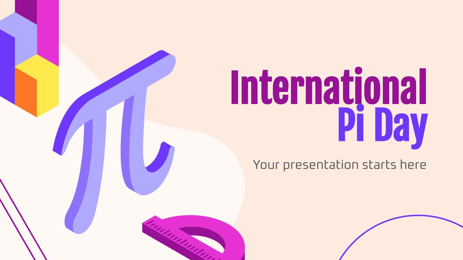 Plantilla de presentación Día Internacional de Pi