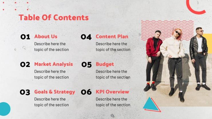 Modelo de apresentação Colagens geométricas-caóticas de marketing