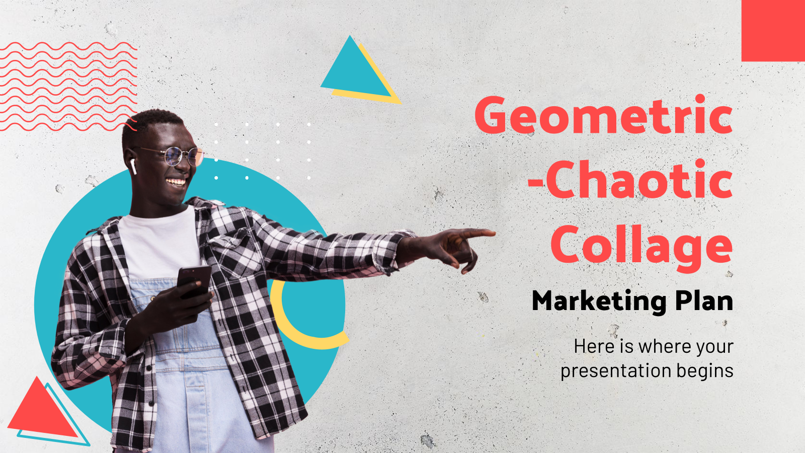 Geometric-Chaotic Collage Marketing presentation template
