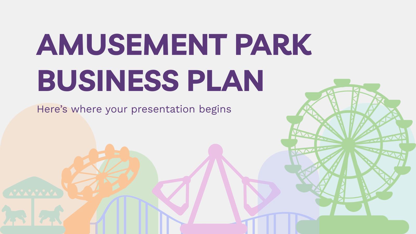 Amusement Park Business Plan presentation template