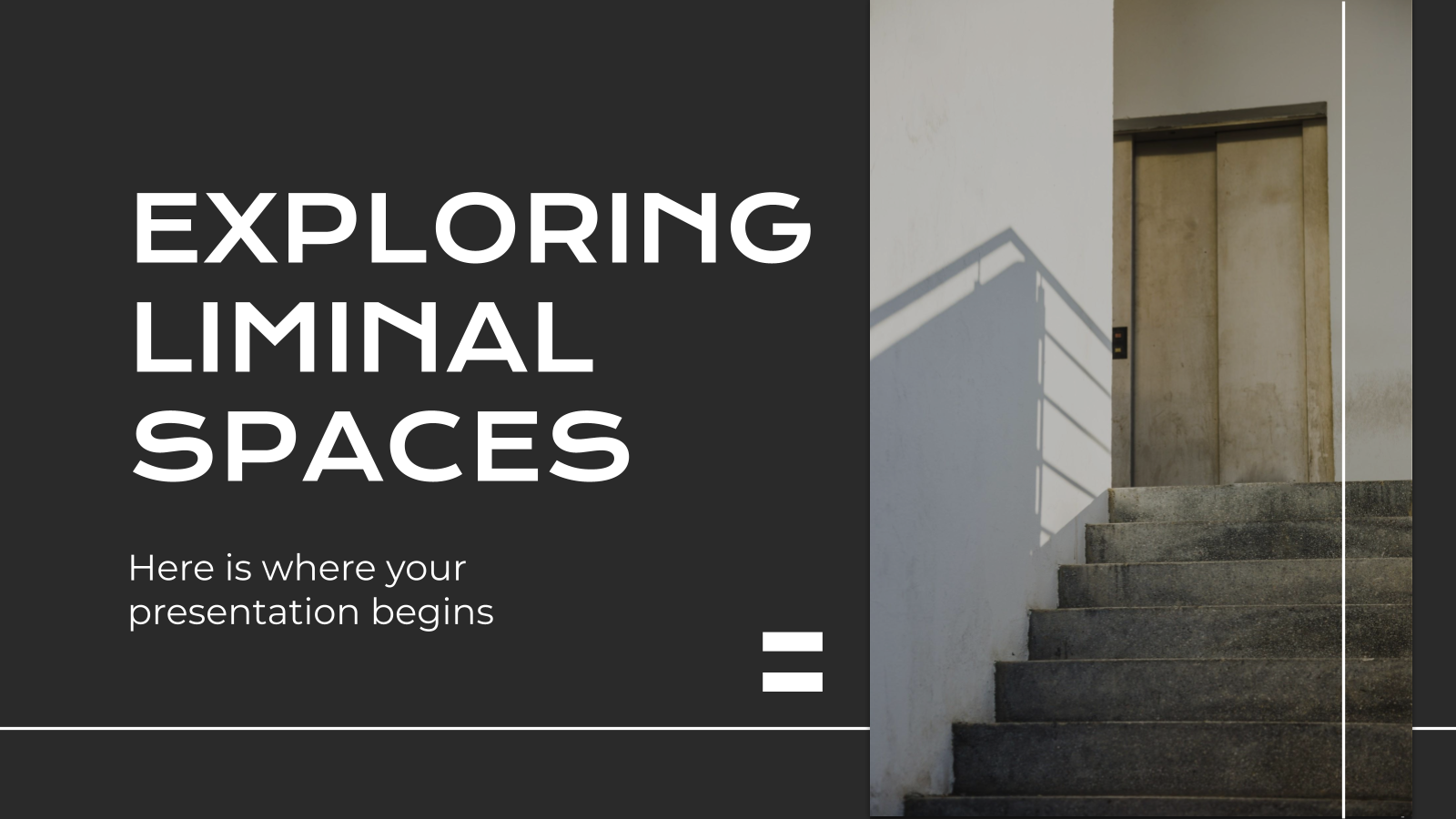 Exploring Liminal Spaces presentation template